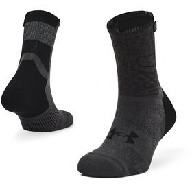 Under Armour Armourdry Run Crew Socks, black-jet-gray-black
